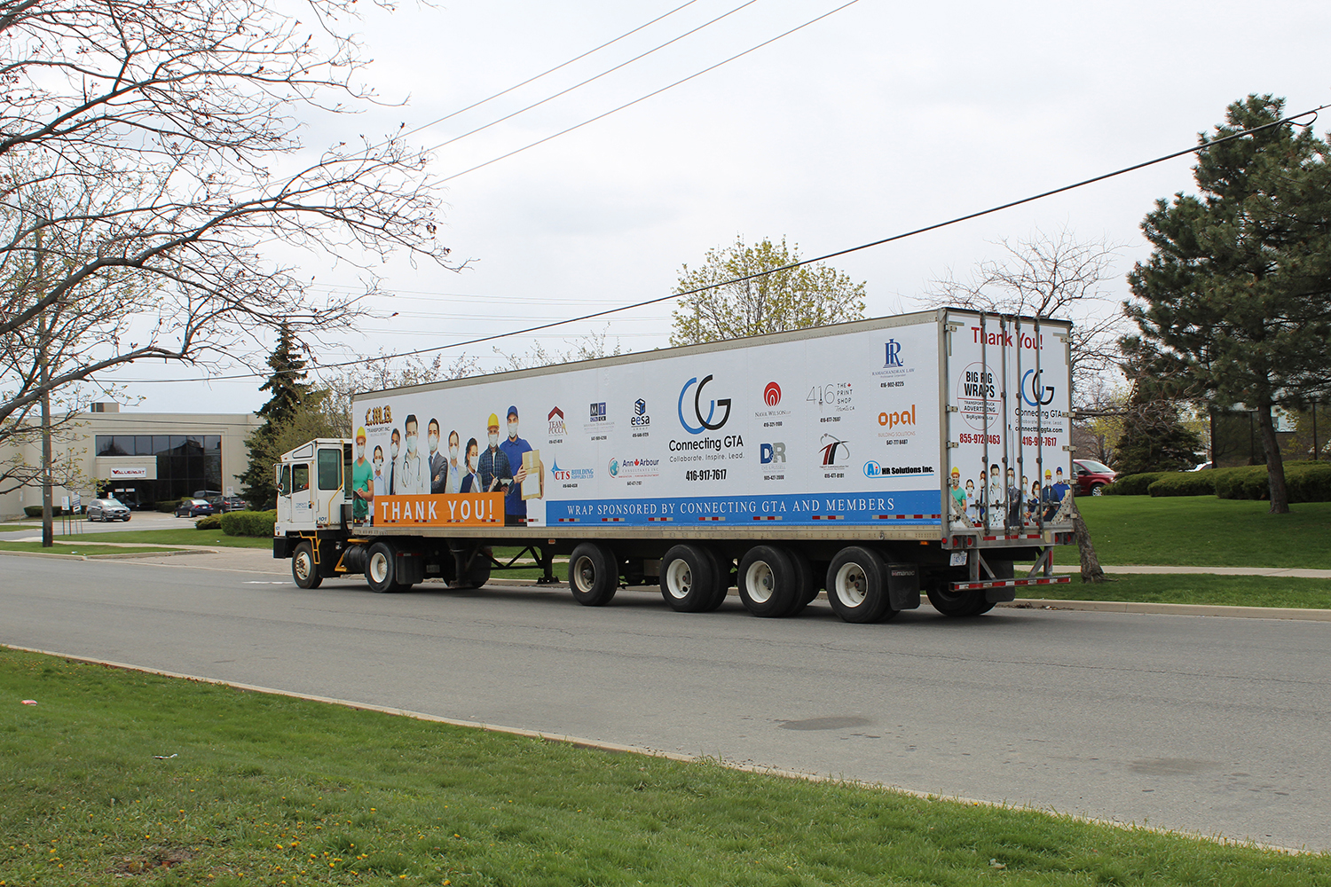 Connecting GTA's 'Covid-19 Truck' to thank all the front line workers